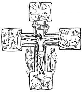 Stilisiertes Elisabethkreuz. Symbol der Hochkirchlichen St.-Johannes-Bruderschaft.