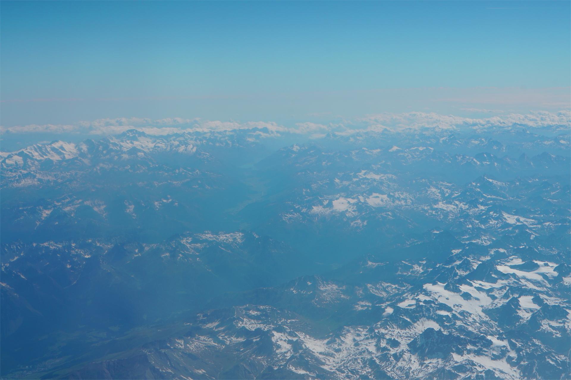 Alpen auf dem Rückflug nach Deutschland