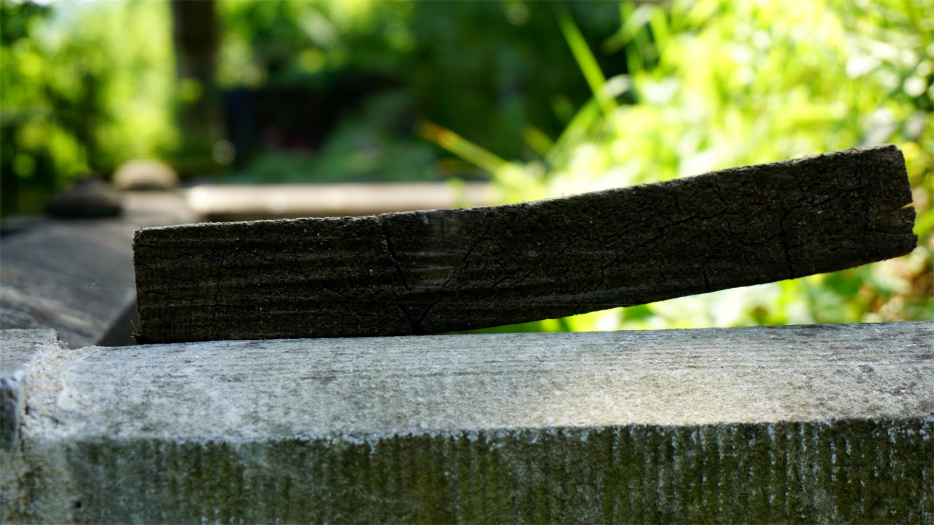 Holzbrett Grab