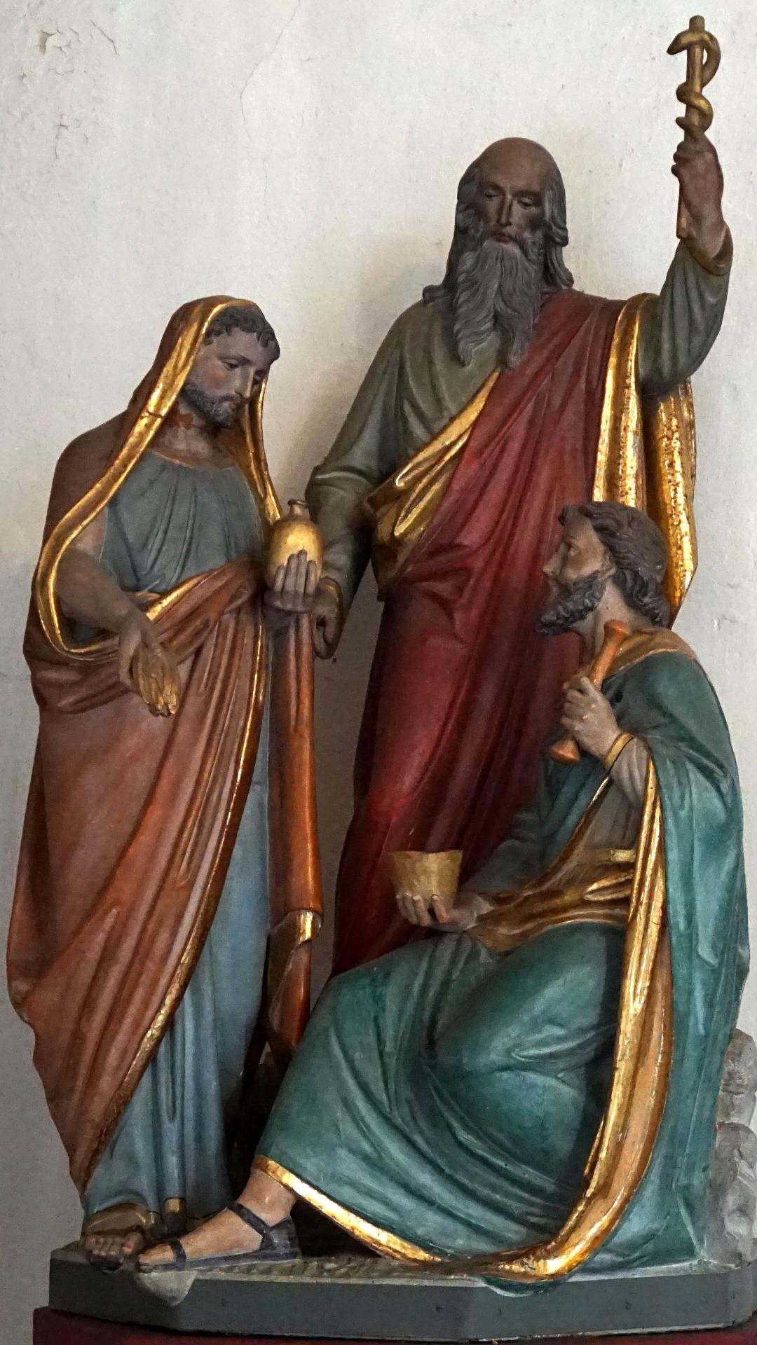 Statuen der drei Ärzte in Prüm