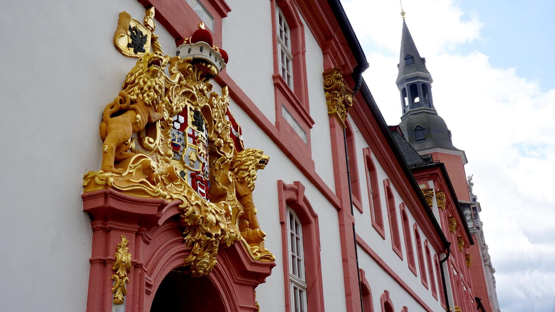 Rokoko Schmuck am Abteigebäude — Reichsabtei Prüm