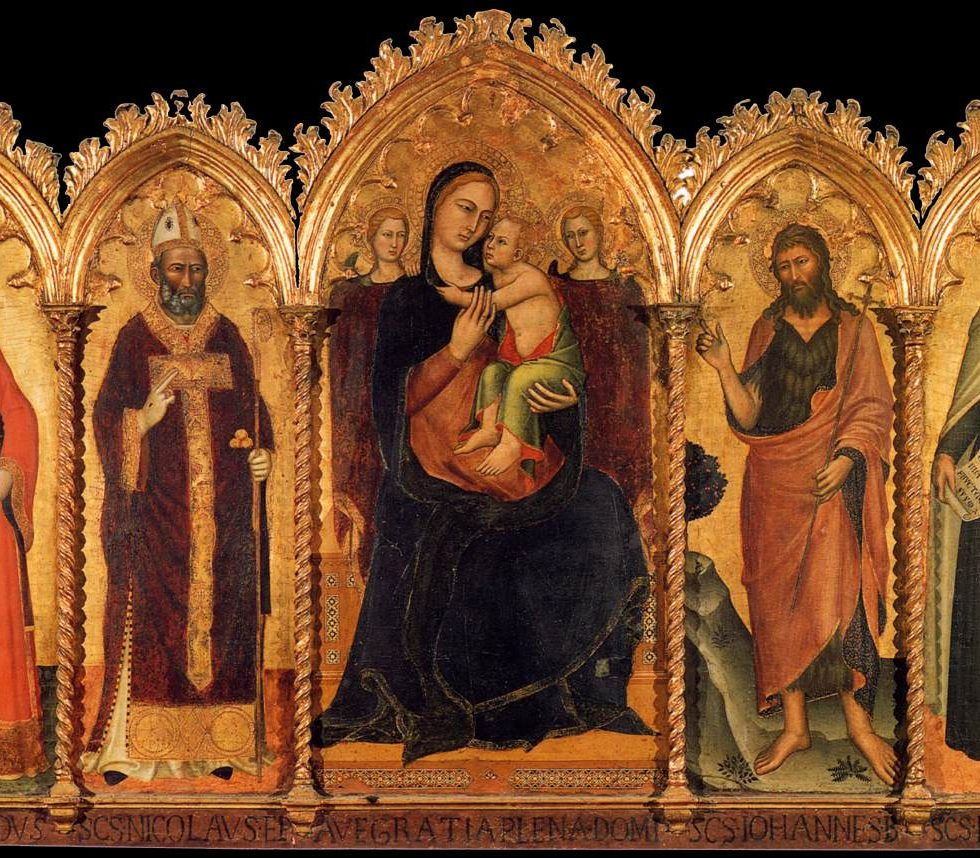 Christus mit Madonna umringt von Heiligen — Nikolaus
