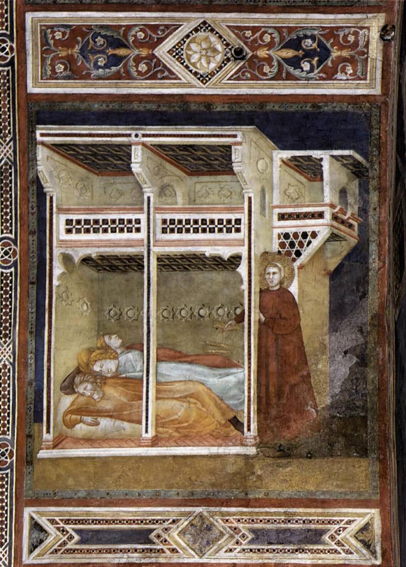 Mitgift für die drei Jungfrauen — Nikolaus von Myra