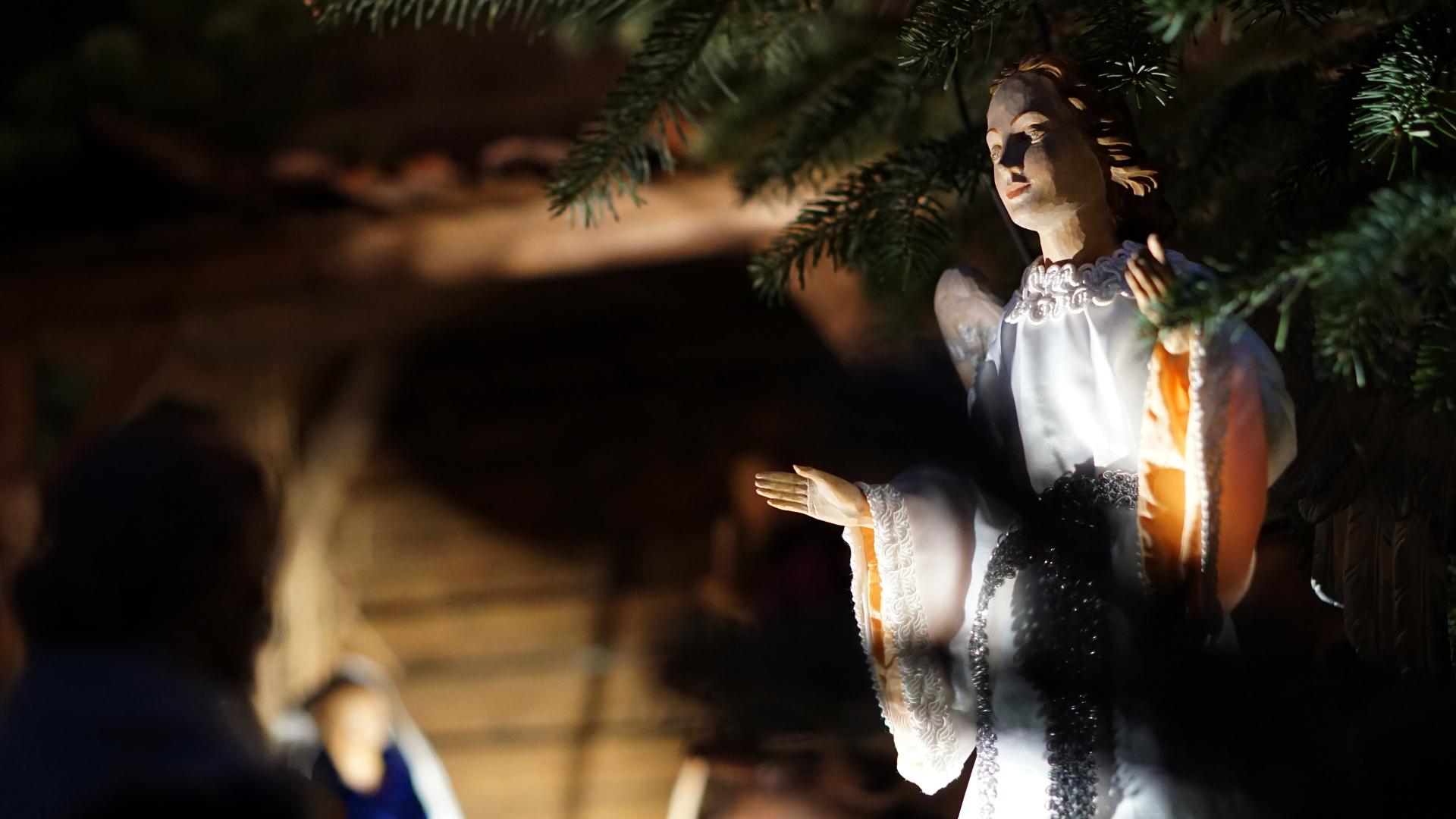 Detailaufnahme Engel — Weihnachten 2017